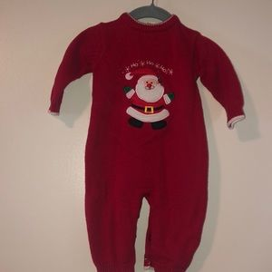 Baby Knit Christmas One Piece